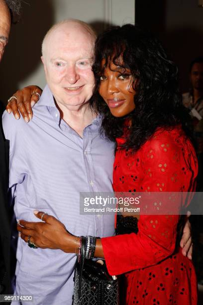 Christopher von Weyhe and Naomi Campbell attend L'Alchimie secrete d'une collection The Secret Alchemy of a Collection Exhibition Preview at Galerie...