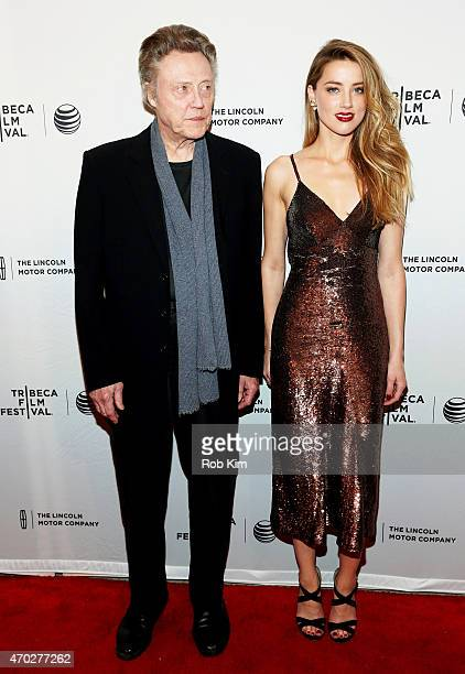 Christopher Walken and Amber Heard attend the premiere of 'When I Live My Life Over Again' during the 2015 Tribeca Film Festival at the SVA Theater...