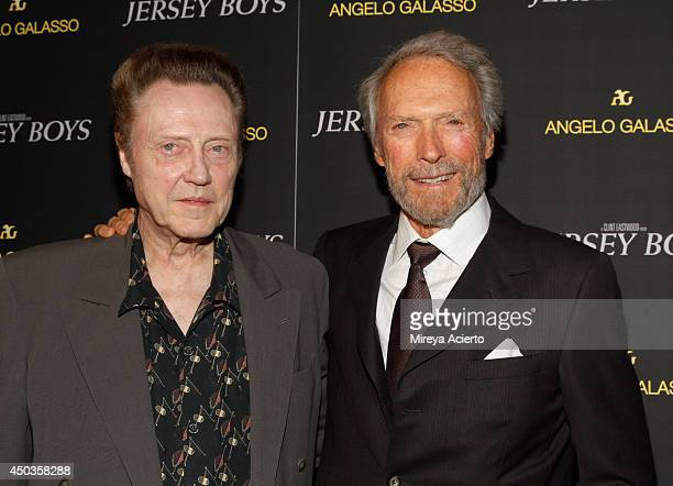 Christopher Walken and Clint Eastwood attend the 'Jersey Boys' Special Screening dinner at Angelo Galasso House on June 9 2014 in New York City
