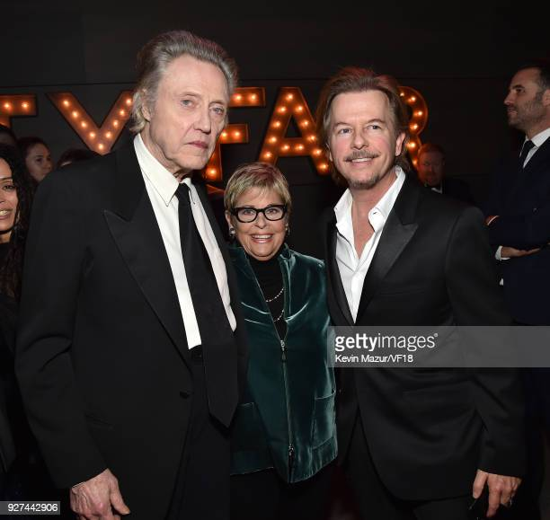 Christopher Walken and David Spade attend the 2018 Vanity Fair Oscar Party hosted by Radhika Jones at Wallis Annenberg Center for the Performing Arts...