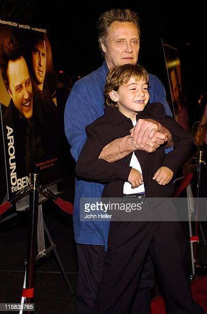Christopher Walken and Jonah Bobo during Around The Bend Los Angeles Premiere Arrivals at Directors Guild Of America in West Hollywood California...