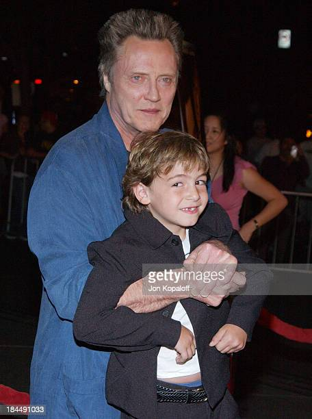 Christopher Walken and Jonah Bobo during Around The Bend Los Angeles Premiere Arrivals at Directors Guild of America in Los Angeles California United...
