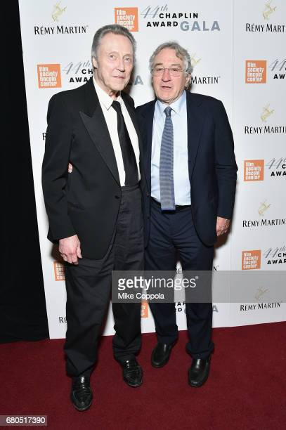 Christopher Walken and Robert De Niro backstage during the 44th Chaplin Award Gala at David H Koch Theater at Lincoln Center on May 8 2017 in New...