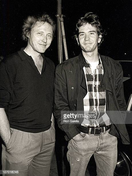 Christopher Walken and Timothy Hutton during Christopher Walken and Timothy Hutton Sighting at Elaine's Restaurant May 24 1984 at Elaine's Restaurant...