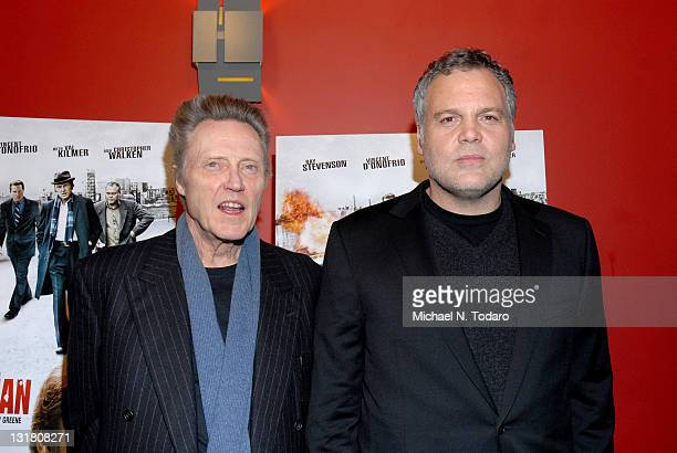 Christopher Walken and Vincent D'Onofrio attend the premiere of 'Kill the Irishman' at Landmark's Sunshine Cinema on March 7 2011 in New York City