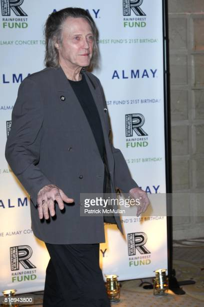 Christopher Walken attend THE ALMAY CONCERT to Celebrate the RAINFOREST FUND'S 21st Birthday at The Plaza Hotel on May 13th 2010 in New York City