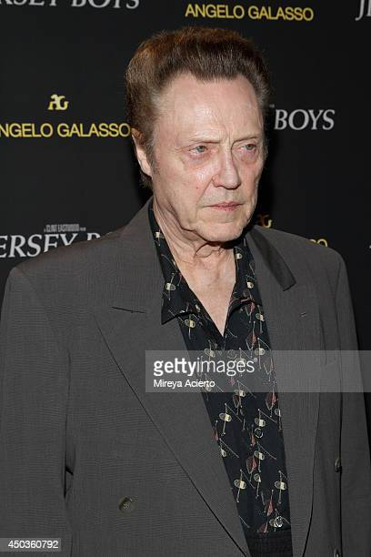 Christopher Walken attends the 'Jersey Boys' Special Screening dinner at Angelo Galasso House on June 9 2014 in New York City