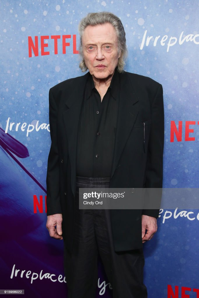 Christopher Walken attends the Special Screening of the Netflix Film 'Irreplaceable You' at The Metrograph on February 8, 2018 in New York City.