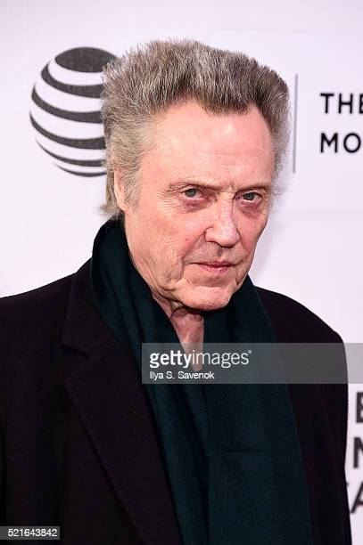 Christopher Walken attends the The Family Fang Premiere 2016 Tribeca Film Festival at BMCC John Zuccotti Theater on April 16 2016 in New York City