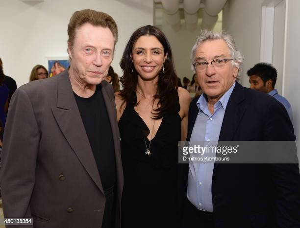 Christopher Walken Drena De Niro and Robert De Niro attend Remembering The Artist Robert De NiroSr New York Screening After Party at The Museum of...