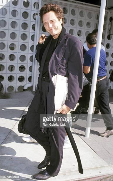 Christopher Walken during Christopher Walken Sighting at Los Angeles International Airport October 25 1992 at Los Angeles International Airport in...