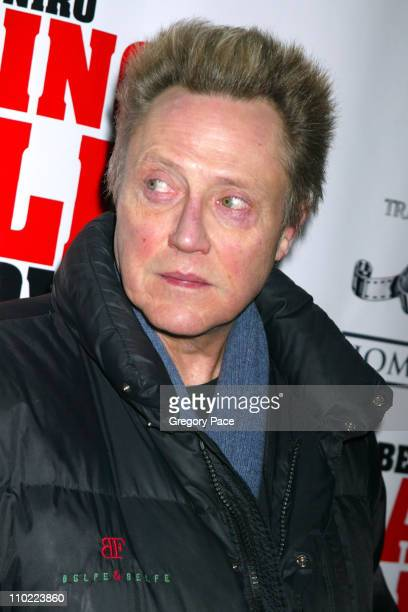Christopher Walken during 'Raging Bull' 25th Anniversary and Collector's Edition DVD Release Celebration Inside Arrivals at Ziegfeld Theater in New...