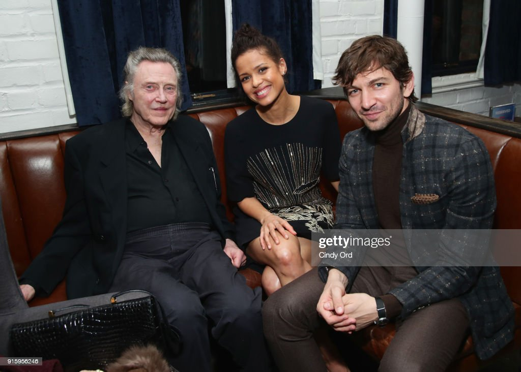 Christopher Walken, Gugu Mbatha-Raw, and Michiel Huisman attend the Special Screening of the Netflix Film 'Irreplaceable You' at The Metrograph on February 8, 2018 in New York City.