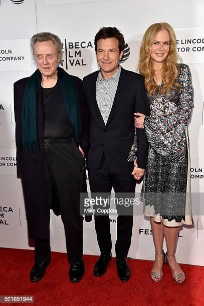 Christopher Walken Jason Bateman and Nicole Kidman attend the 'The Family Fang' Premiere 2016 Tribeca Film Festival at BMCC John Zuccotti Theater on...