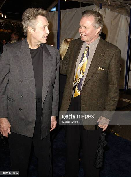 Christopher Walken Jon Voight during Catch Me If You Can Los Angeles Premiere at Mann Village Theatre in Westwood California United States