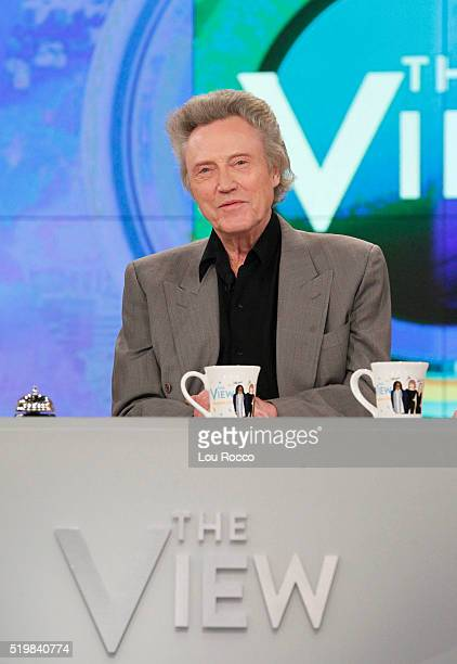 THE VIEW Christopher Walken Matthew Perry and Thomas Lennon are the guests Monday April 11 2016 on Walt Disney Television via Getty Imagess The View...