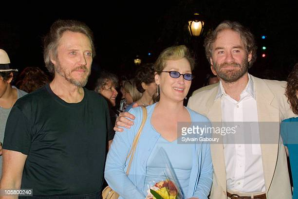 Christopher Walken Meryl Streep and Kevin Kline during 'The Seagull' Premiere Showing and Benefit at Delacorte Theater in Central Park in New York...