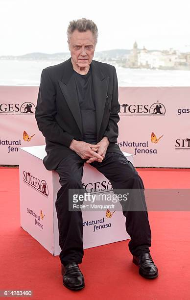 Christopher Walken poses during a photocall during the Sitges Film Festival 2016 on October 13 2016 in Sitges Spain