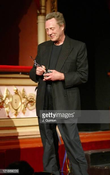 Christopher Walken receives the Libertas Award during 2005 Dubrovnik International Film Festival Christopher Walken Tribute at Marin Drzic Theatre in...