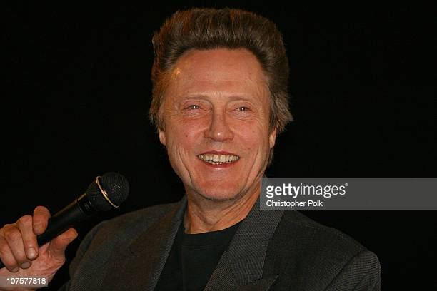 Christopher Walken talks to a full theatre after a screening of 'Catch Me If You Can' at the Egyptian Theatre on Friday Dec 13 2002