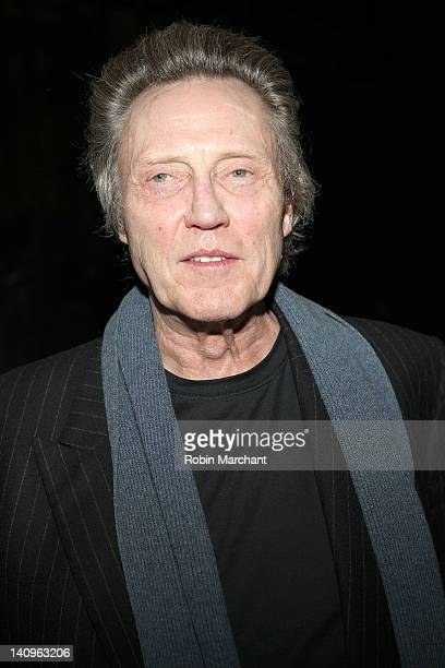 Christopher Walken visits Innocent Flesh at Actors Temple Theatre on March 8 2012 in New York City
