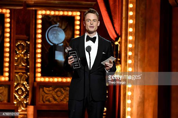 Christopher Wheeldon accepts the award for Best Choreography for An American in Paris onstage at the 2015 Tony Awards at Radio City Music Hall on...