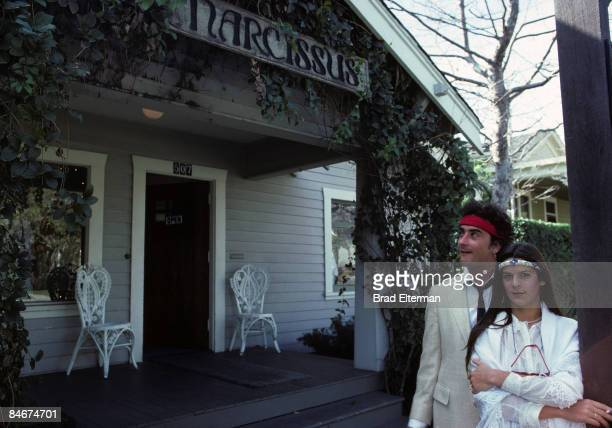 LOS ANGELES JANUARY 01 1980 Christopher Wilding and Aileen Getty at their store in Santa Barbara California **EXCLUSIVE**