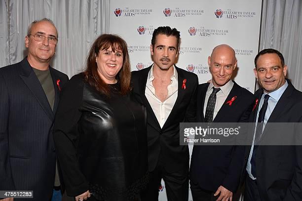 Christopher Wilding Barbara Berkowitz Colin Farrell Tim MendelsonJoel Goldman Managing Director of The Elizabeth Taylor AIDS Foundation attend The...