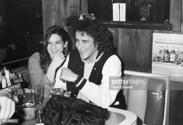 Christopher Wilding the son of Elizabeth Taylor and Michael Wilding at Barney's Beanery in West Hollywood with his girlfriend Aileen Getty...