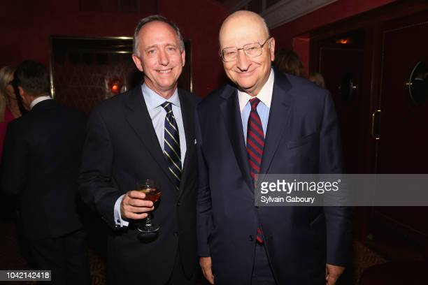 Christopher Wolf and John Castle attend David Patrick Columbia And Chris Meigher Toast The QUEST 400 At DOUBLES on September 27 2018 in New York City