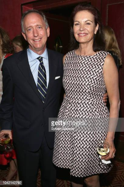 Christopher Wolf and Lise Honore attend David Patrick Columbia And Chris Meigher Toast The QUEST 400 At DOUBLES on September 27 2018 in New York City