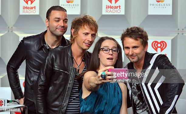 Christopher Wolstenholme Dominic Howard Kennedy and Matthew Bellamy attend the iHeartRadio Music Festival at the MGM Grand Garden Arena on September...