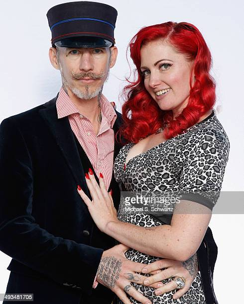Christopher Wonder and GoGo Amy pose during their attendance at The Ice House Comedy Club on May 23 2014 in Pasadena California