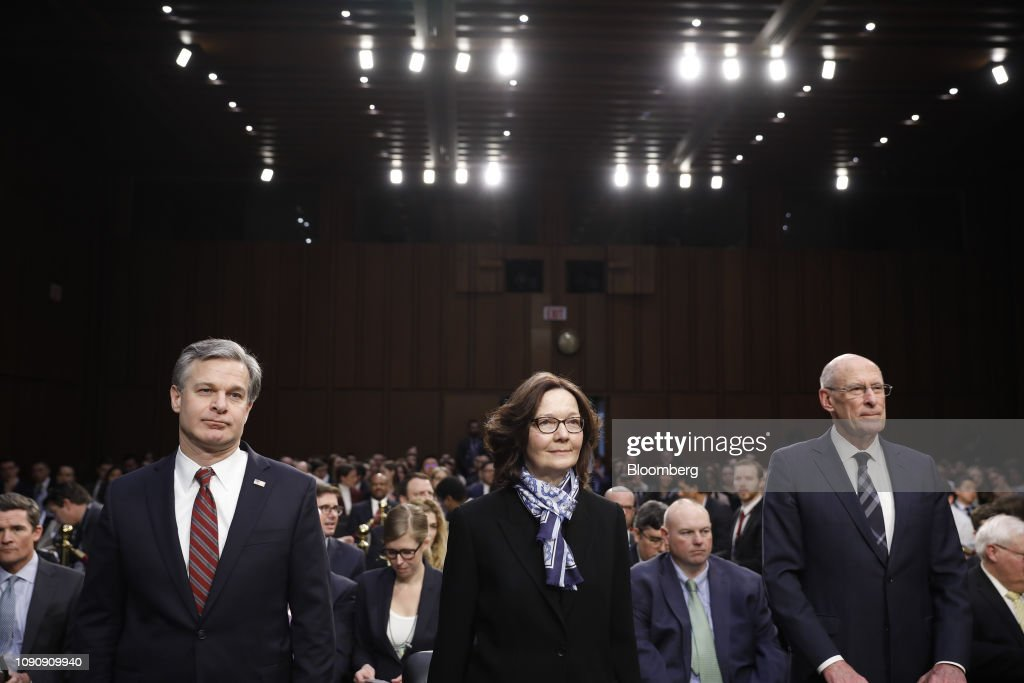 Agency Chiefs Testify On Worldwide Threats To Senate Intelligence Committee : News Photo