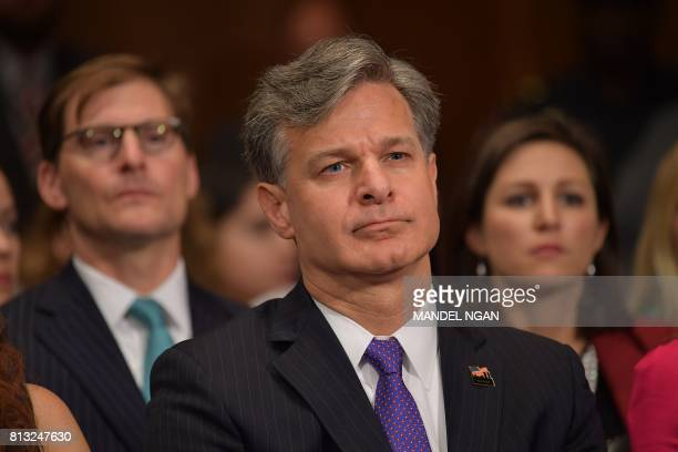 Christopher Wray is seen before his testimony before the Senate Judiciary Committee on his nomination to be the director of the Federal Bureau of...