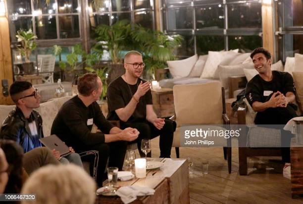 Christopher Wylie and Akin Akman attend the Salons during #BoFVOICES on November 29 2018 in Oxfordshire England