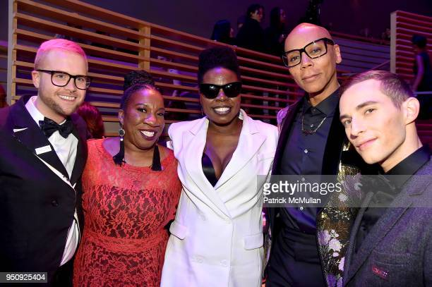 Christopher Wylie Tarana Burke Leslie Jones Rupaul Andre Charles and Adam Rippon attend the 2018 TIME 100 Gala at Jazz at Lincoln Center on April 24...