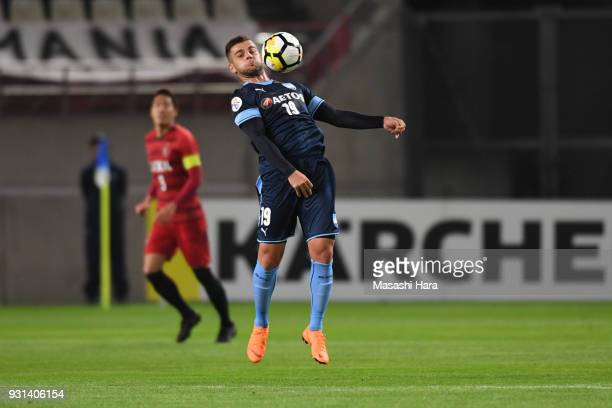 Christopher Zuvela of Sydney FC in action during the AFC Champions League Group H match between Kashima Antlers and Sydney FC at Kashima Soccer...