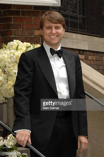 ChristopherNixonCox poses at the wedding of Andrea Catsimatidis and Christopher Nixon Cox at the Greek Orthodox Cathedral Of The Holy Trinity on June...