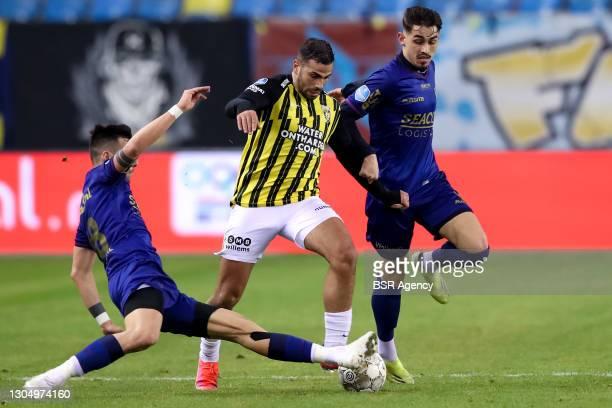 Christos Donis of VVV Venlo, Oussama Tannane of Vitesse, Meritan Shabani of VVV Venlo during the TOTO KNVB Beker match between Vitesse and VVV Venlo...