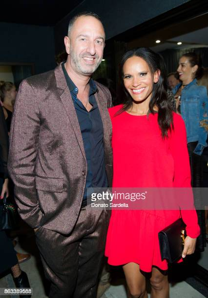 Christos Garkinos and Amanda Luttrell Garrigus at Living Beauty 'The Gift' Photo Exhibit at The Buterbaugh Gallery on October 19 2017 in Los Angeles...
