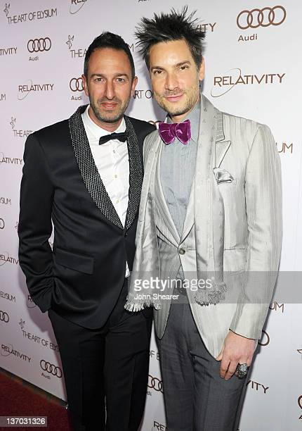 Christos Garkinos and Cameron Silver arrive at Audi presents The Art of Elysium's 5th annual HEAVEN at Union Station on January 14, 2012 in Los...