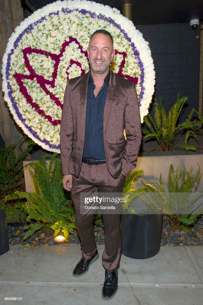 Christos Garkinos at Living Beauty 'The Gift' Photo Exhibit at The Buterbaugh Gallery on October 19, 2017 in Los Angeles, California.