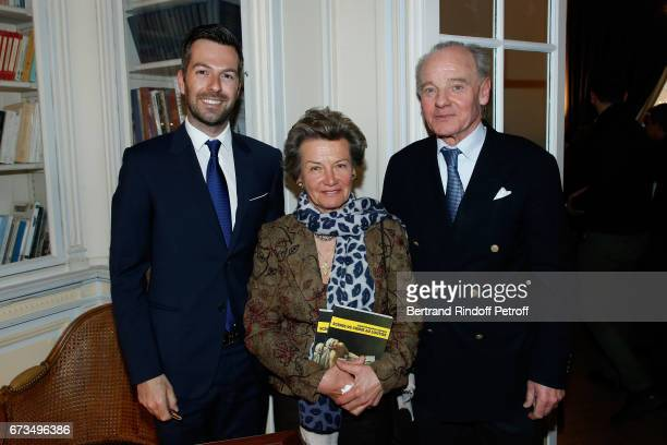 Christos Markogiannakis Princess Suzanne Mourousy and Prince Constantin Mourousy attend the presentation of the Book 'Scenes De Crime au Louvre'...