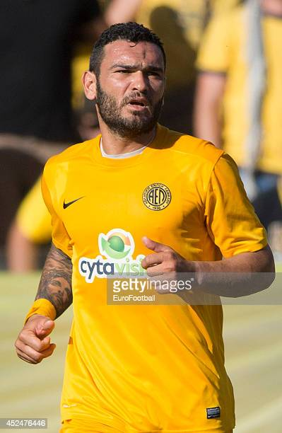 Christos Theofilou of AEL Limassol in action during the Cypriot First Division match AEL Limassol FC and APOEL FC at the Tsirion Stadium on May 17...