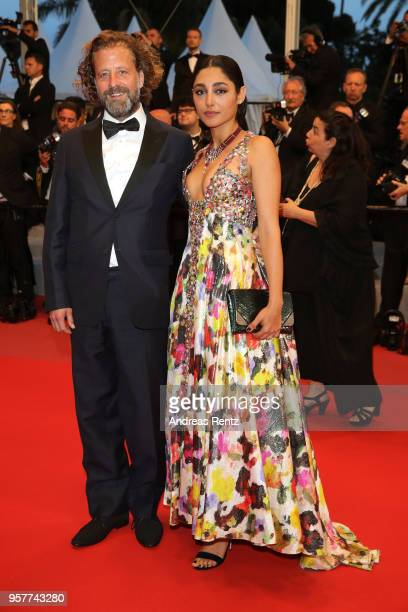 Christos Walker and actress Golshifteh Farahani attends the screening of Girls Of The Sun during the 71st annual Cannes Film Festival at Palais des...