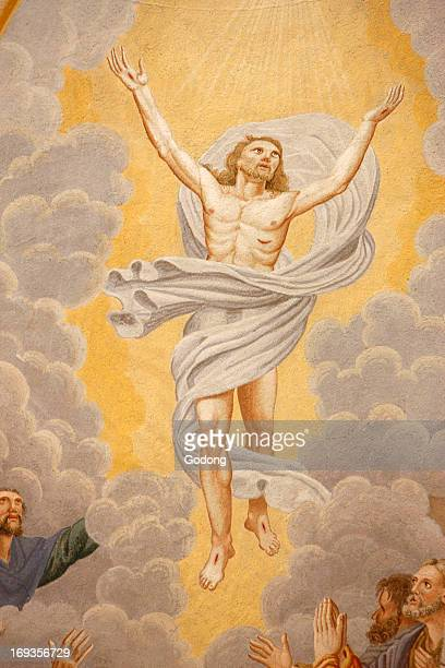 Christ's Ascension in SaintNicolas de Vateroce church