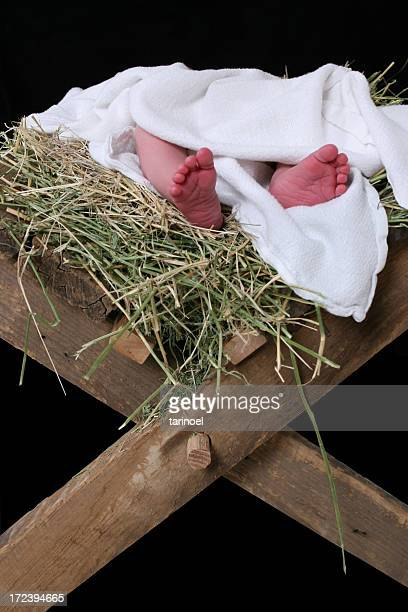 christ's feet 2 - trough stock photos and pictures