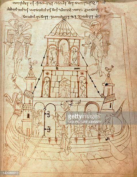 Christ's life miniature from Junius manuscript England 9th Century