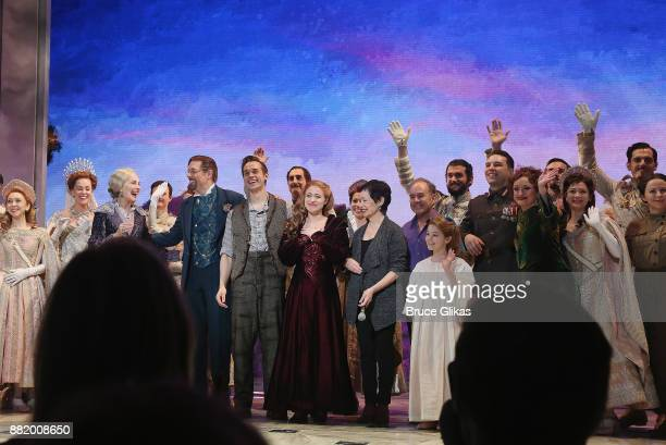 Christy Altomare as Anastasia and the cast perform during a special Broadway performance of 'Journey To The Past' to honor The 20th Anniversary of...